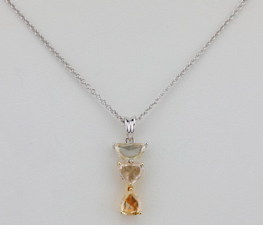 1.68ctw VS2-SI1 Diamond & 18K/14K Necklace