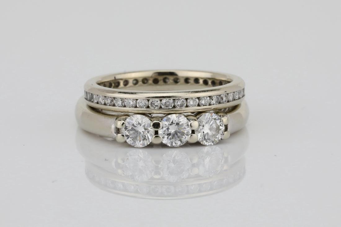 1ctw SI1-SI2/G-H Diamond & 18K Ring/Eternity Band