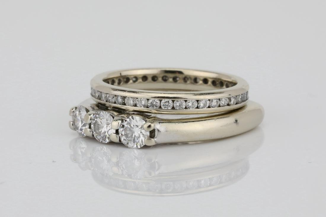 1ctw SI1-SI2/G-H Diamond & 18K Ring/Eternity Band - 2