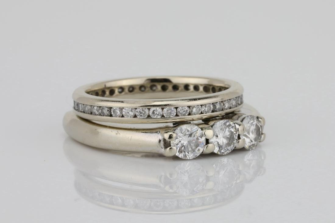 1ctw SI1-SI2/G-H Diamond & 18K Ring/Eternity Band - 3
