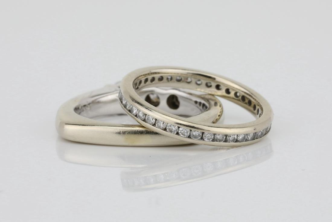 1ctw SI1-SI2/G-H Diamond & 18K Ring/Eternity Band - 4
