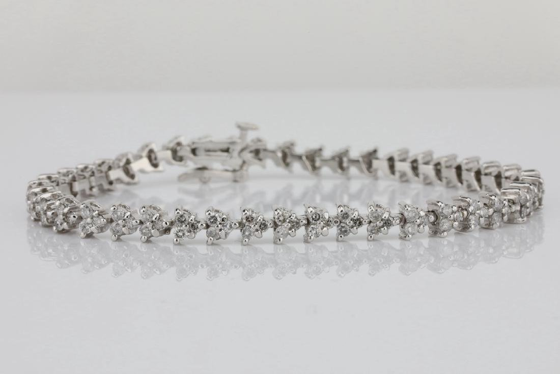 "3.75ctw SI1-SI2/G-H Diamond & 14K 7"" Bracelet"