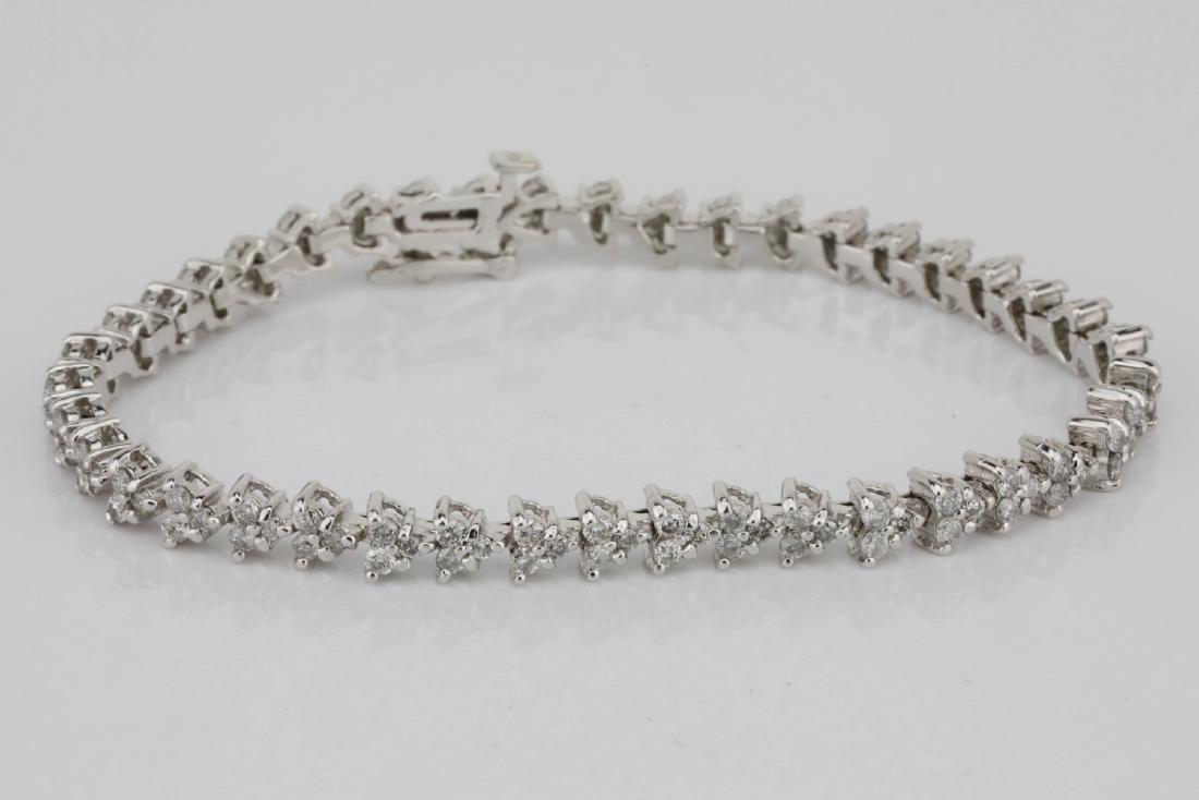 "3.75ctw SI1-SI2/G-H Diamond & 14K 7"" Bracelet - 2"