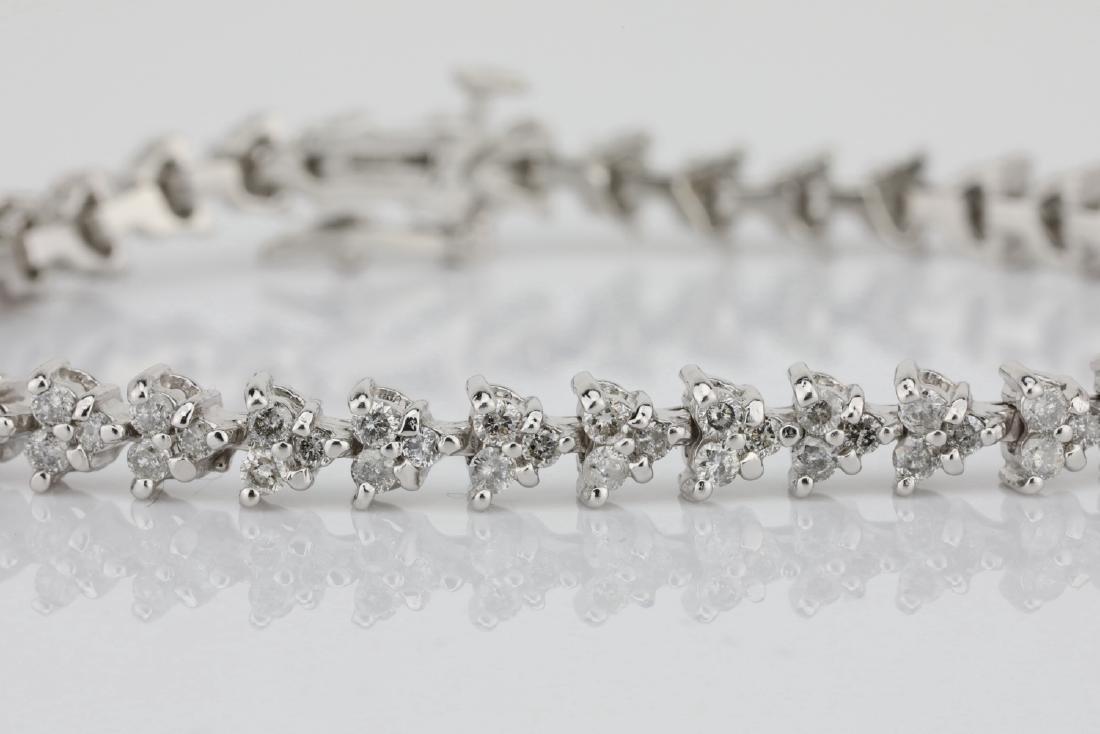 "3.75ctw SI1-SI2/G-H Diamond & 14K 7"" Bracelet - 3"