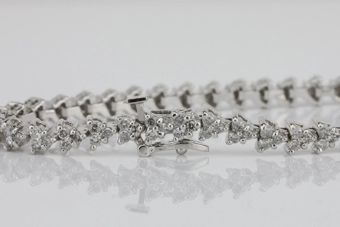 "3.75ctw SI1-SI2/G-H Diamond & 14K 7"" Bracelet - 5"