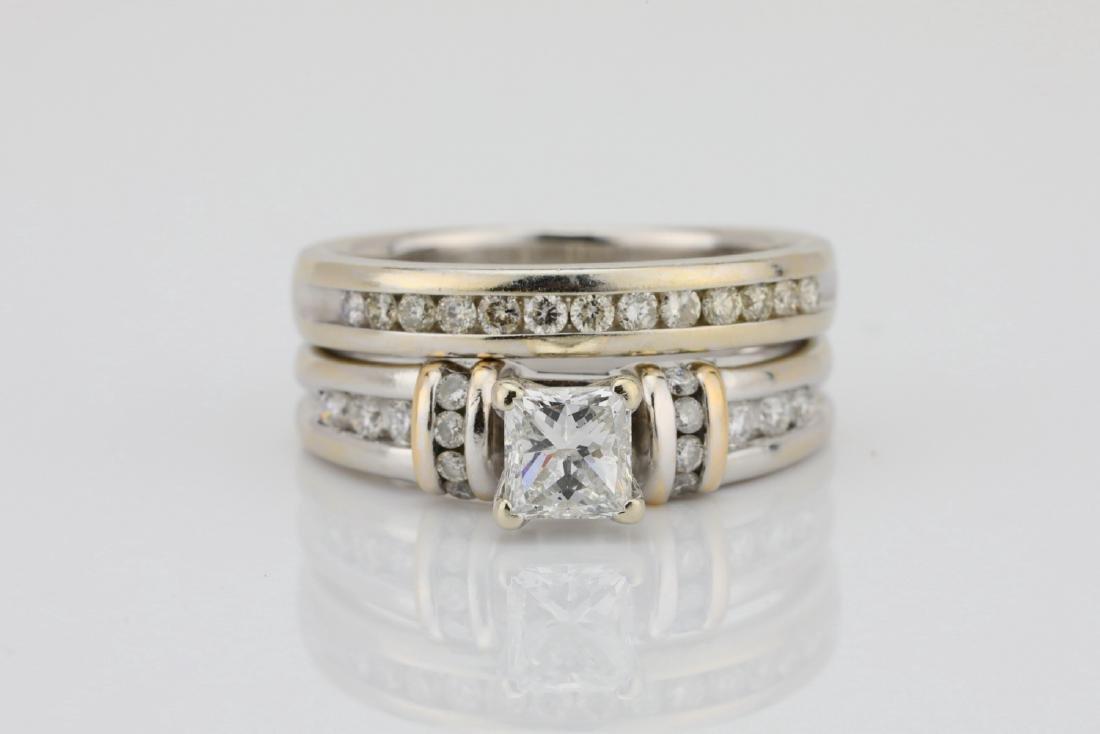 1.10ctw SI1-SI2/G-H Diamond & 14K Ring/Band Set