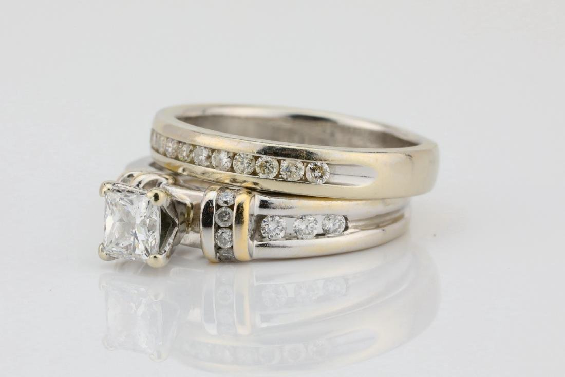 1.10ctw SI1-SI2/G-H Diamond & 14K Ring/Band Set - 2