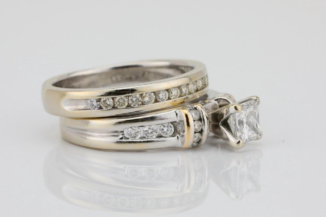 1.10ctw SI1-SI2/G-H Diamond & 14K Ring/Band Set - 3