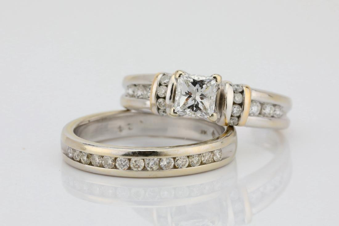 1.10ctw SI1-SI2/G-H Diamond & 14K Ring/Band Set - 4
