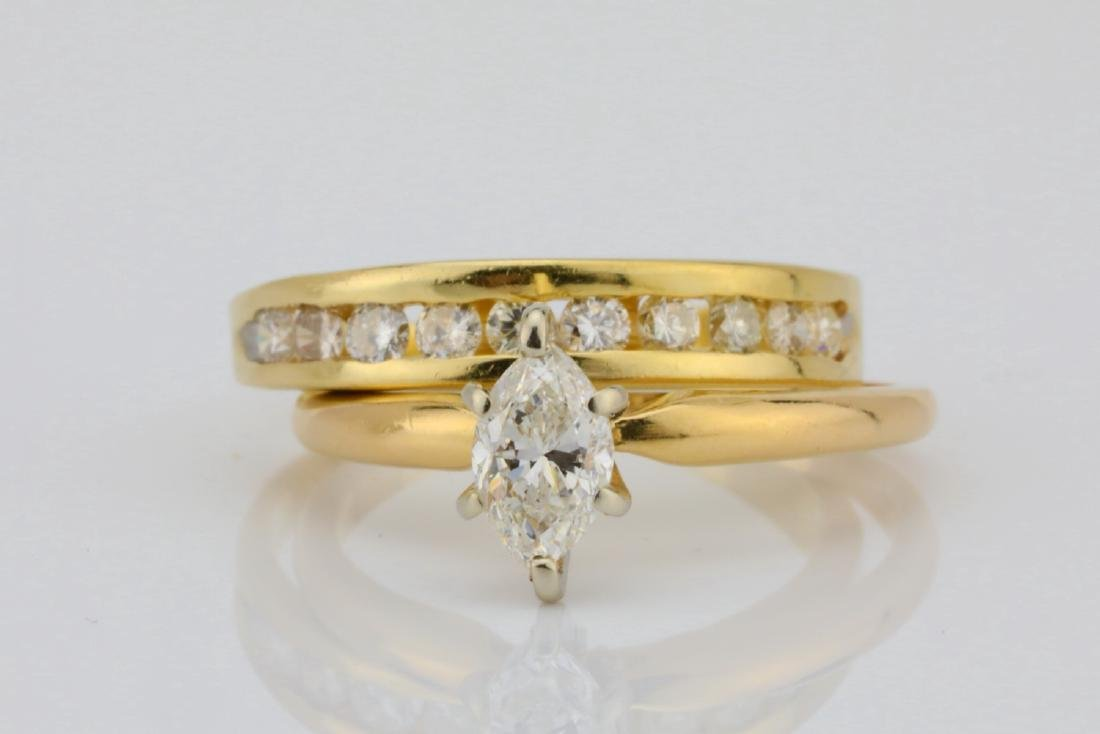 1.00ctw SI1-SI2/G-H Diamond & 14K Ring/Band Set