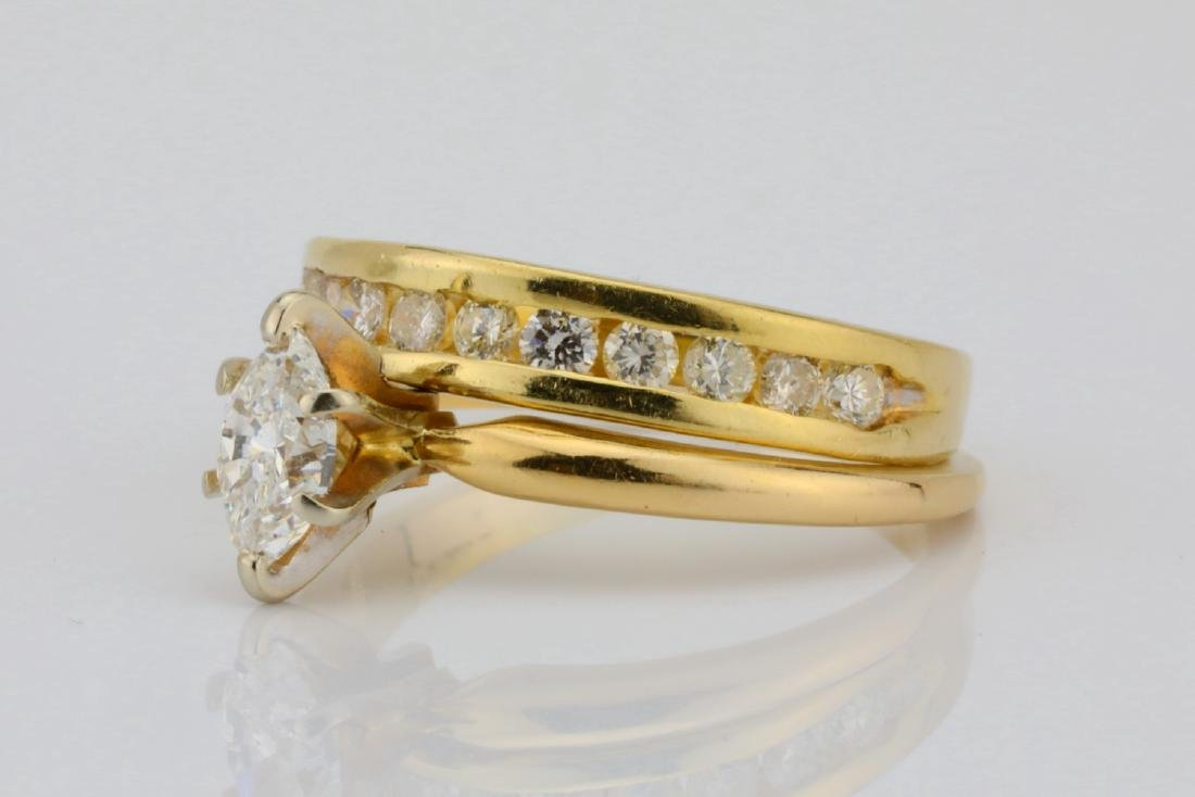 1.00ctw SI1-SI2/G-H Diamond & 14K Ring/Band Set - 2