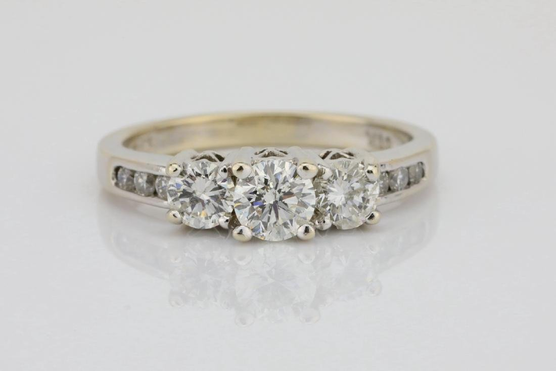 14K White Gold & .85ctw SI1-SI2/G-H Diamond Ring