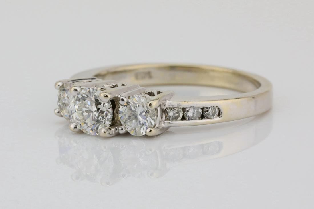 14K White Gold & .85ctw SI1-SI2/G-H Diamond Ring - 2
