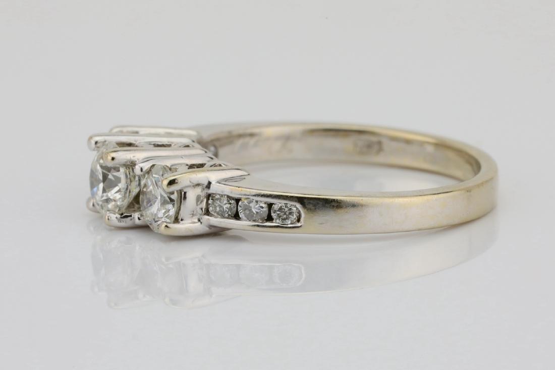14K White Gold & .85ctw SI1-SI2/G-H Diamond Ring - 4
