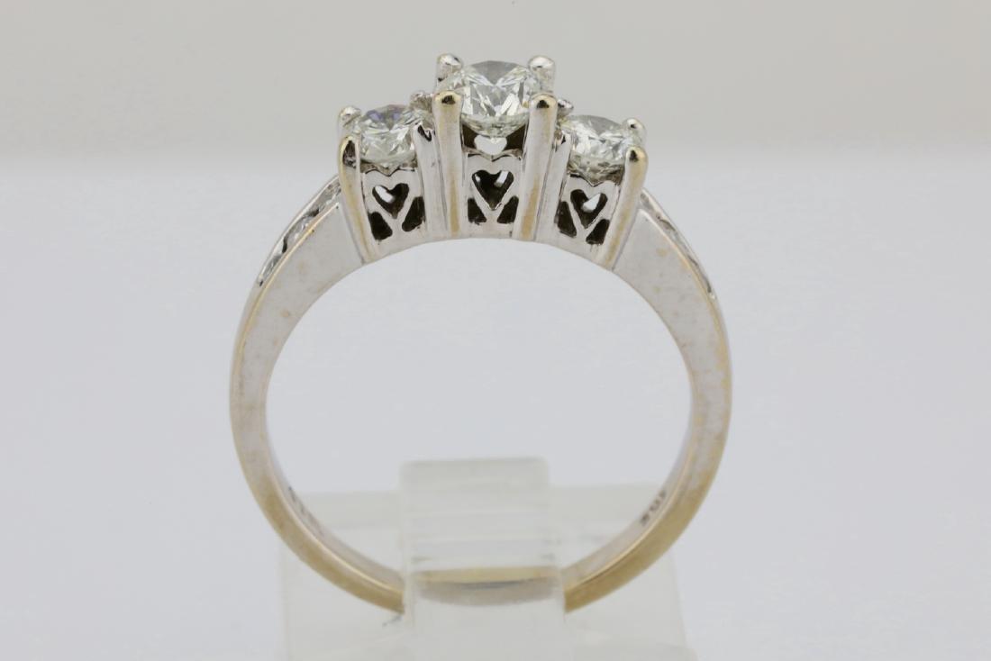 14K White Gold & .85ctw SI1-SI2/G-H Diamond Ring - 6