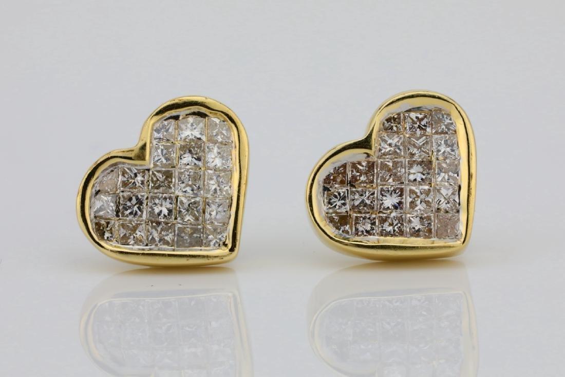 14K & 0.85ctw SI1-SI2/H-J Diamond 9.5mm Earrings