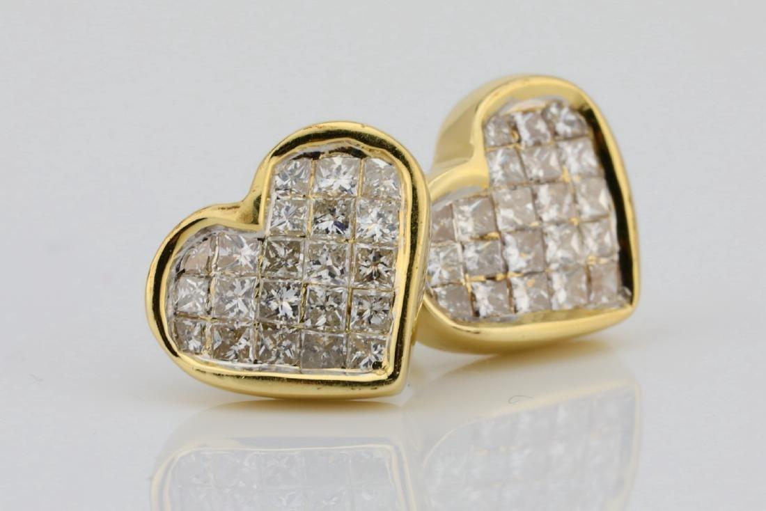 14K & 0.85ctw SI1-SI2/H-J Diamond 9.5mm Earrings - 3