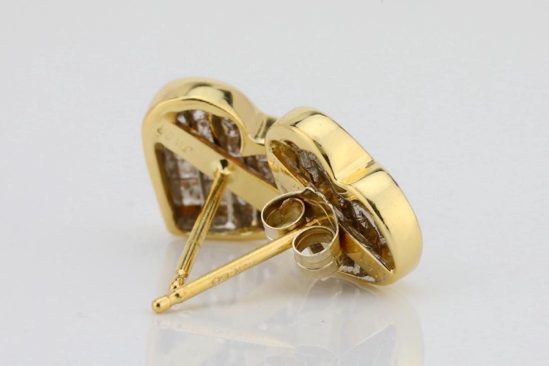 14K & 0.85ctw SI1-SI2/H-J Diamond 9.5mm Earrings - 4