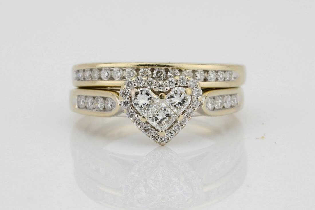 1.20ctw SI1-SI2/G-H Diamond & 14K Ring/Band Set