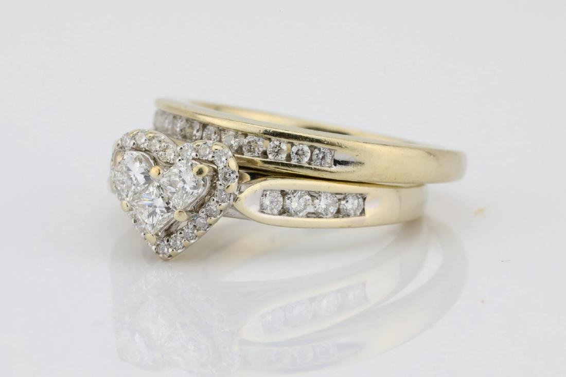 1.20ctw SI1-SI2/G-H Diamond & 14K Ring/Band Set - 2