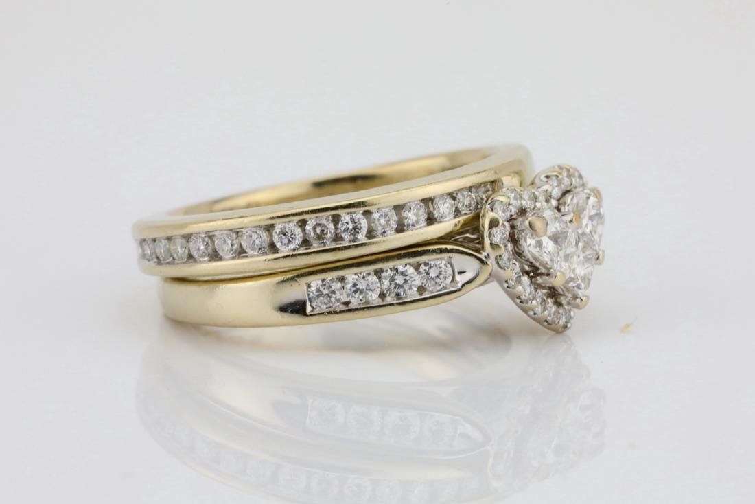 1.20ctw SI1-SI2/G-H Diamond & 14K Ring/Band Set - 3