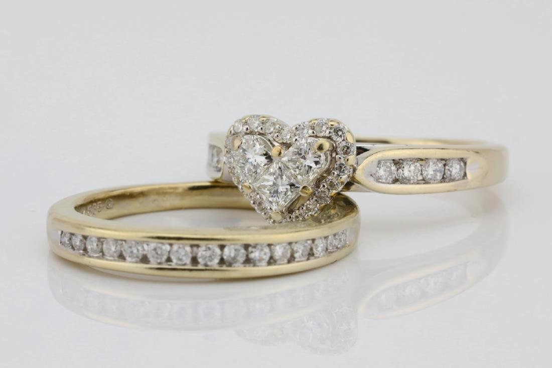 1.20ctw SI1-SI2/G-H Diamond & 14K Ring/Band Set - 4