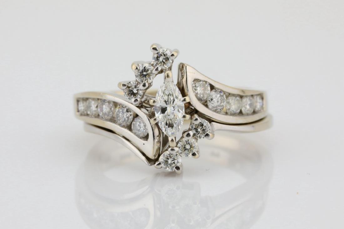 1.30ctw SI1-SI2/G-H Diamond & 14K Ring/Band Set