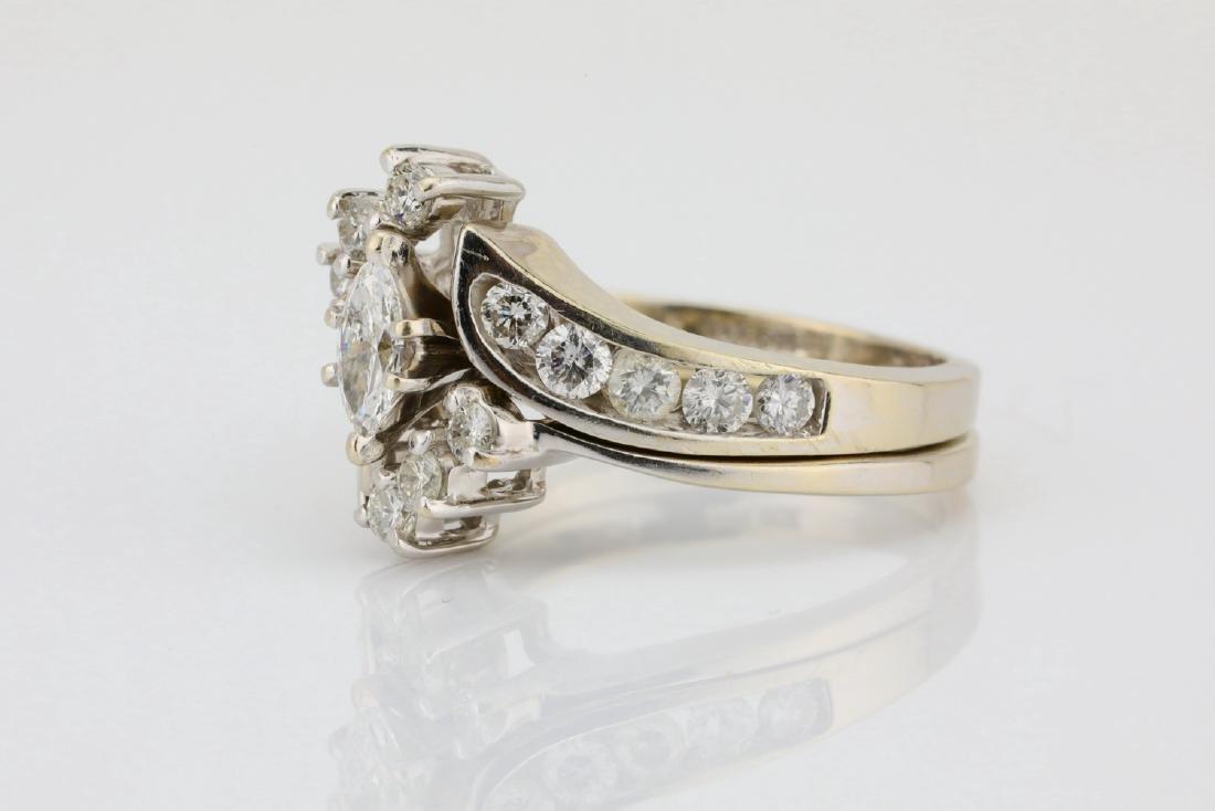 1.30ctw SI1-SI2/G-H Diamond & 14K Ring/Band Set - 2