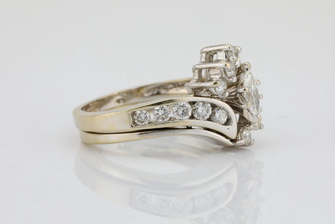 1.30ctw SI1-SI2/G-H Diamond & 14K Ring/Band Set - 3