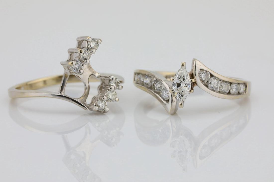 1.30ctw SI1-SI2/G-H Diamond & 14K Ring/Band Set - 4