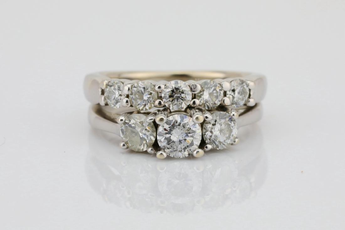 1.15ctw SI1-SI2/G-H Diamond & 14K Dual-Band Ring