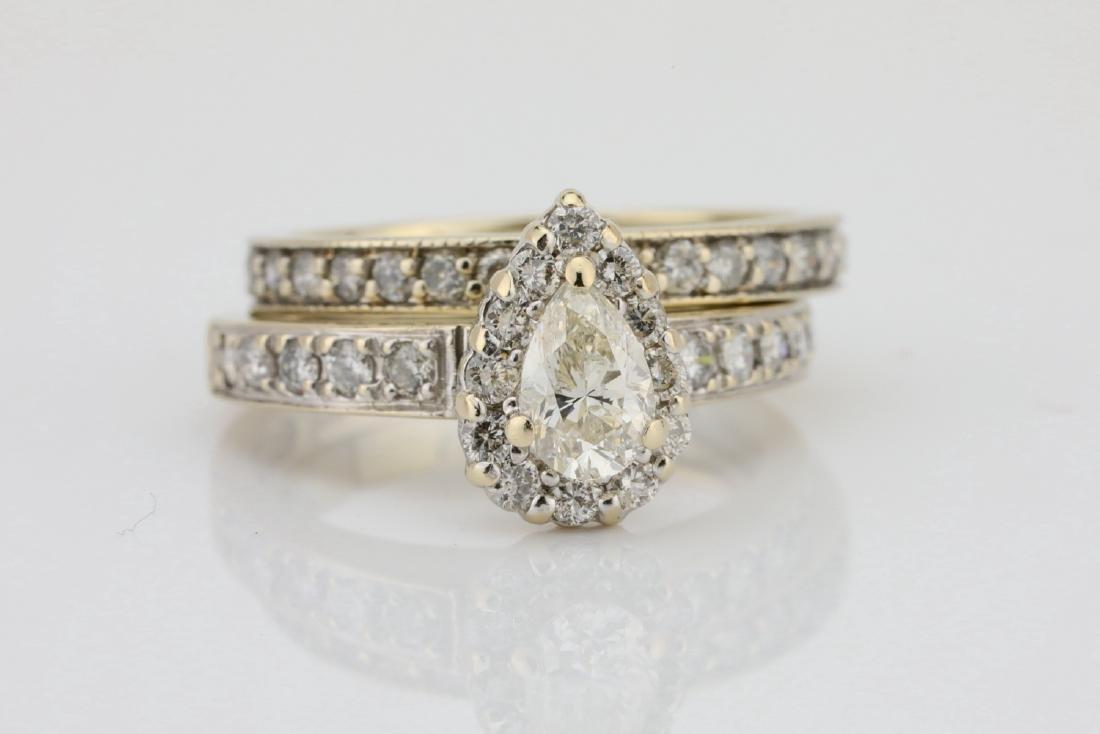 1.65ctw SI1-SI2/G-H Diamond & 14K Ring/Band Set