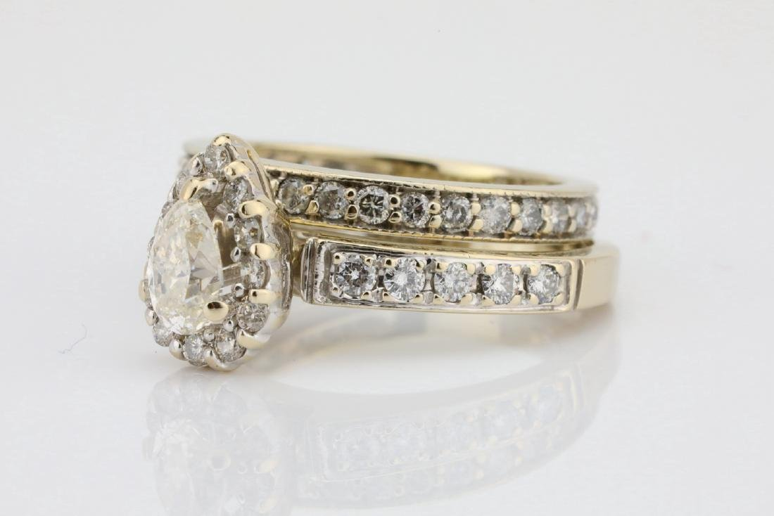 1.65ctw SI1-SI2/G-H Diamond & 14K Ring/Band Set - 2