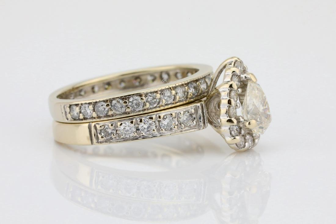1.65ctw SI1-SI2/G-H Diamond & 14K Ring/Band Set - 3