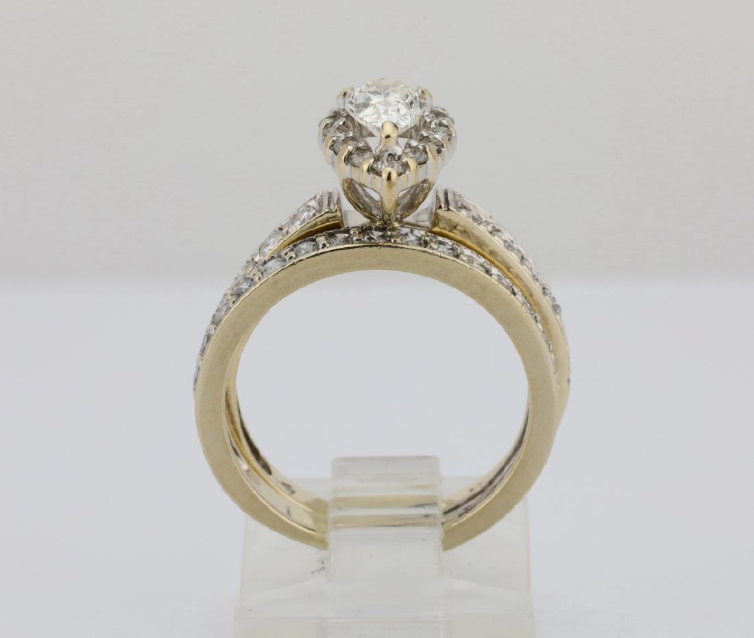 1.65ctw SI1-SI2/G-H Diamond & 14K Ring/Band Set - 4