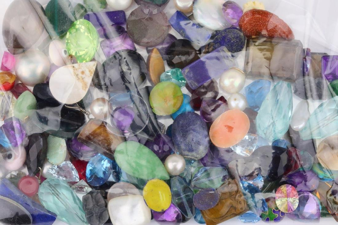Bag of Misc. Unsearched Loose Gemstones & More - 2