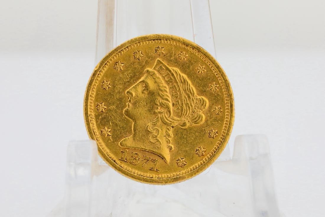 1871-S U.S. Liberty Head Gold $2.50 Quarter Eagle