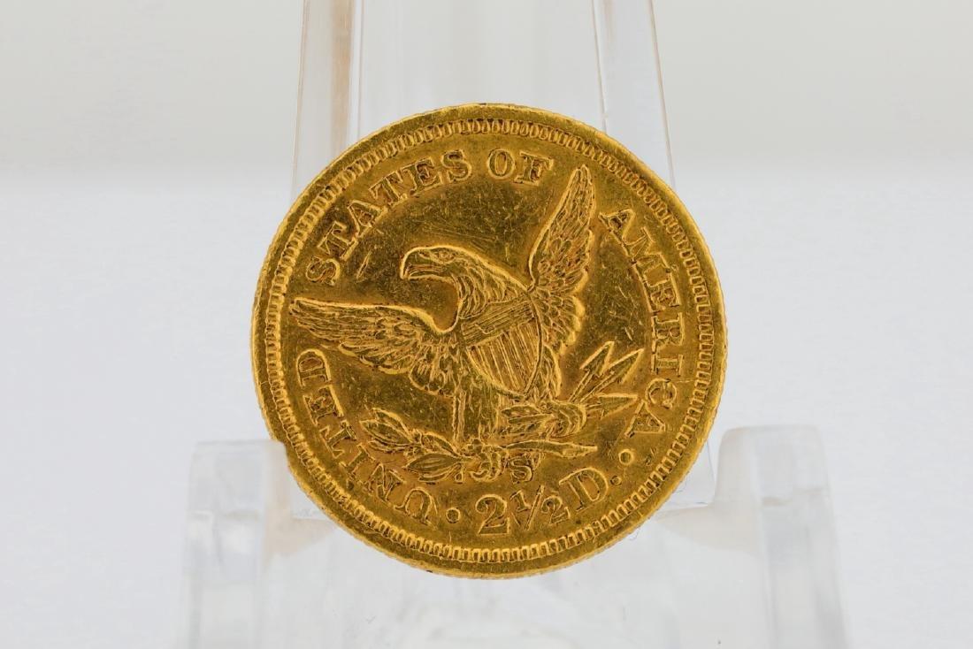 1871-S U.S. Liberty Head Gold $2.50 Quarter Eagle - 2
