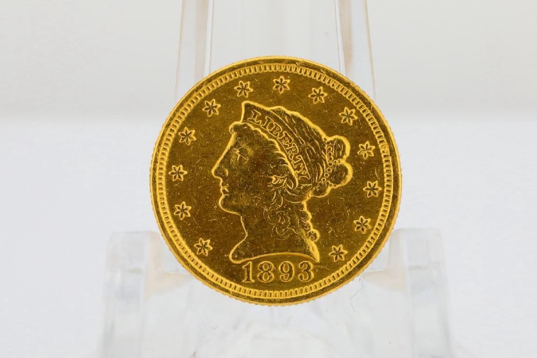1893-P U.S. Liberty Head Gold $2.50 Quarter Eagle