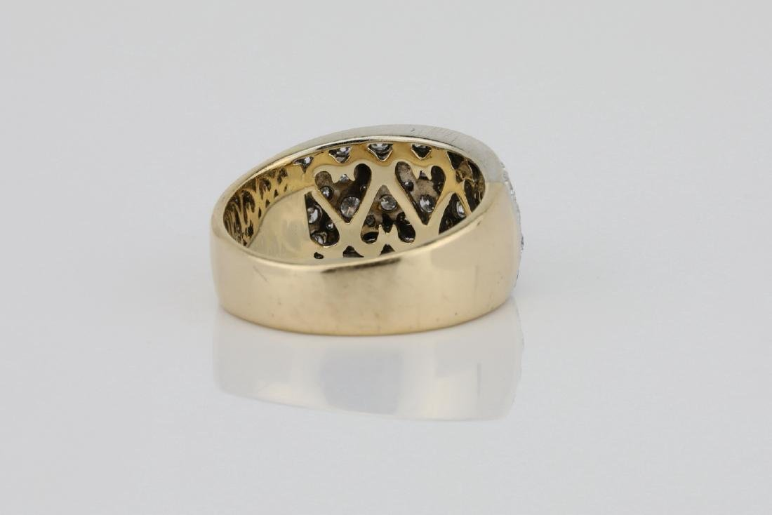 1.15ctw Blue Sapphire & Diamond 14K Ring - 4