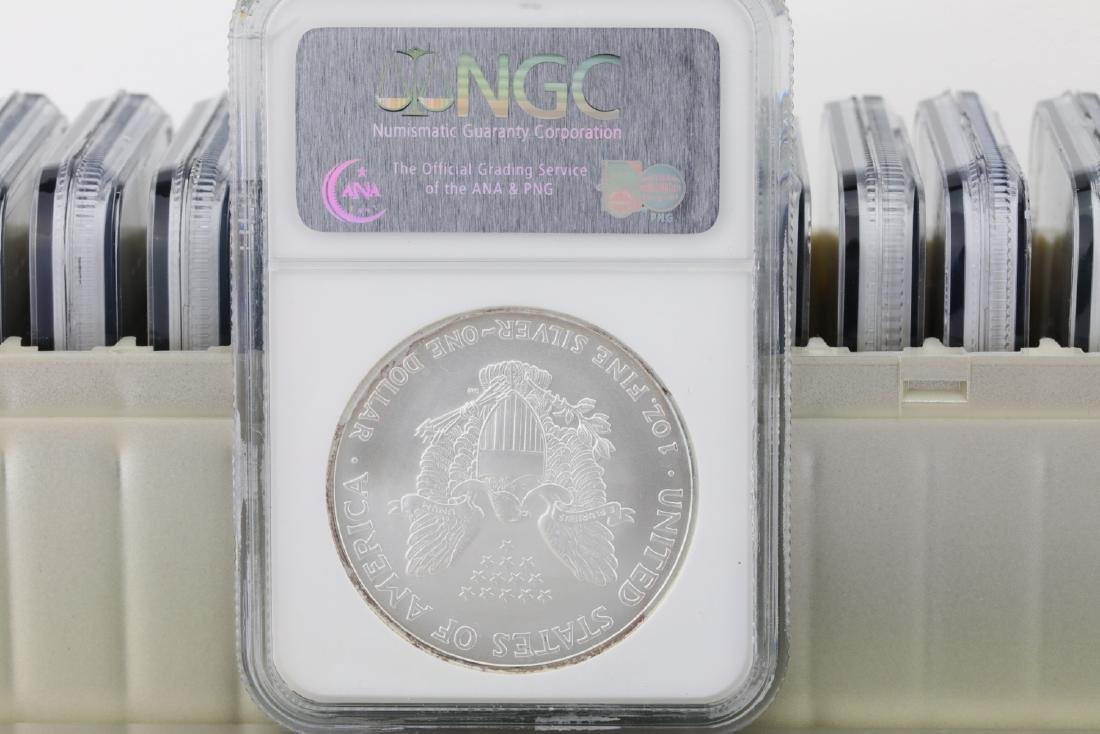 1986-2005 Silver Eagle (20) Coin Set Graded MS69 - 3