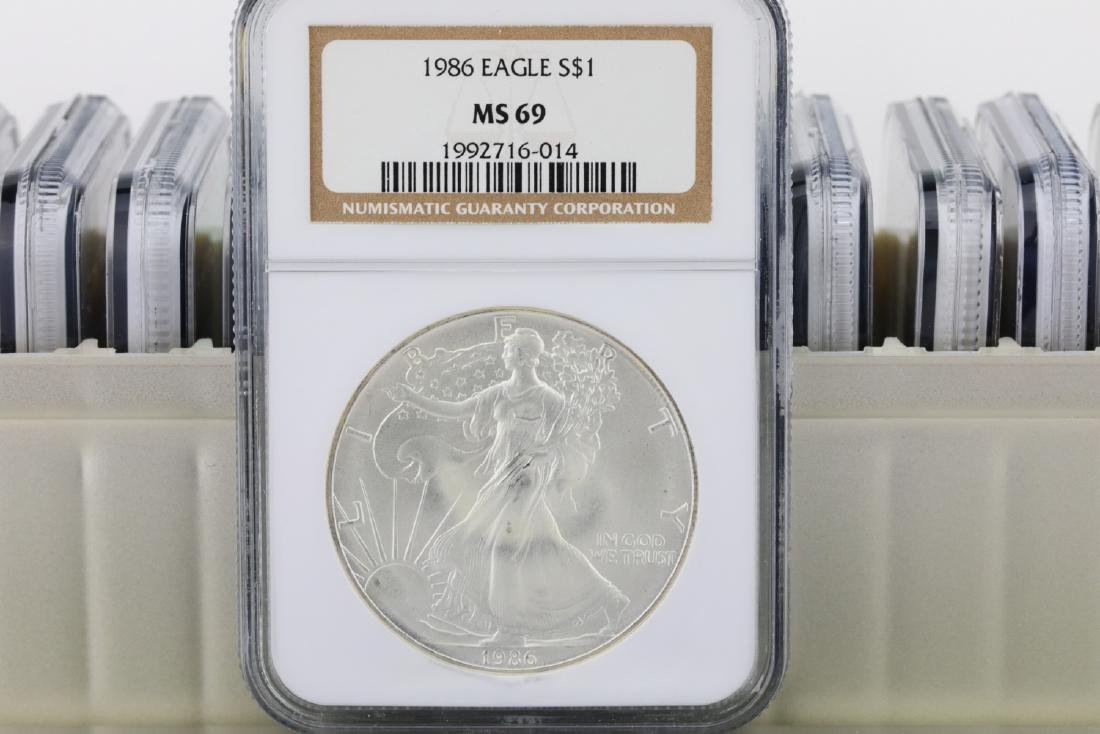 1986-2005 Silver Eagle (20) Coin Set Graded MS69 - 4