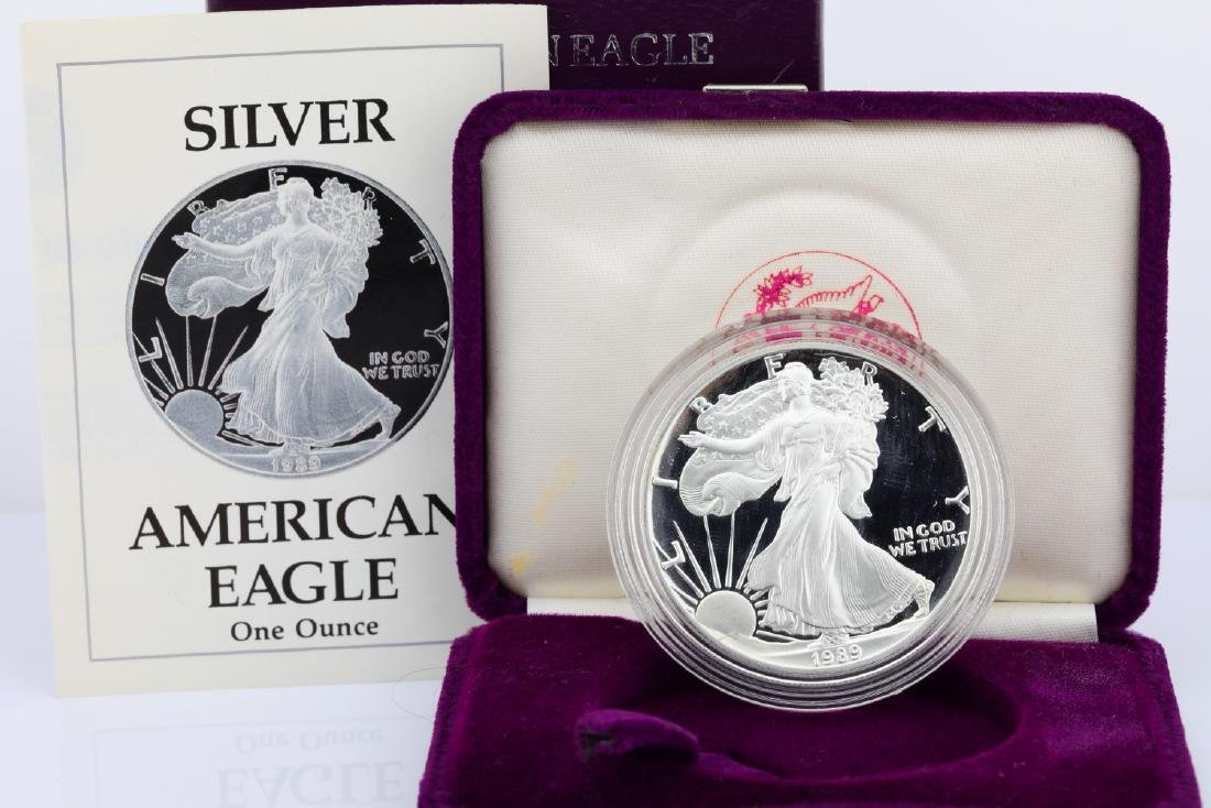 1989-S American Eagle 1 Oz. Proof Silver Dollar