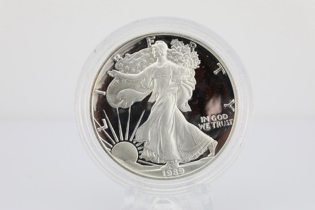 1989-S American Eagle 1 Oz. Proof Silver Dollar - 2