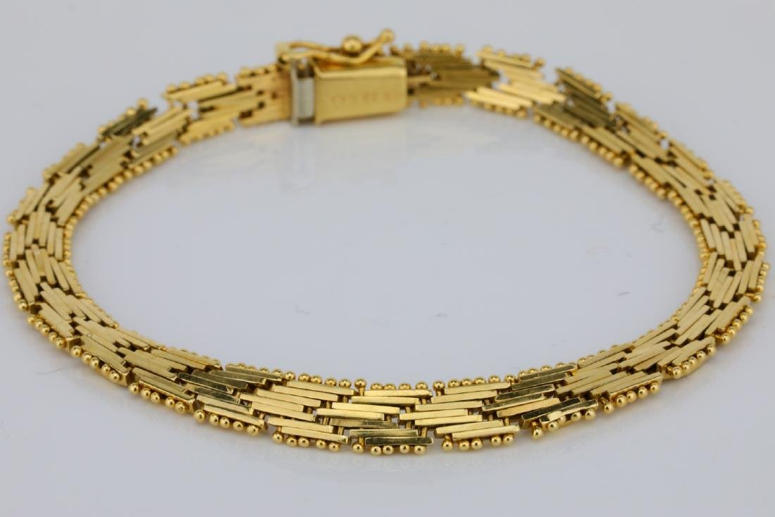 "Imperial Gold U.S.A. 14K Yellow Gold 7"" Bracelet"