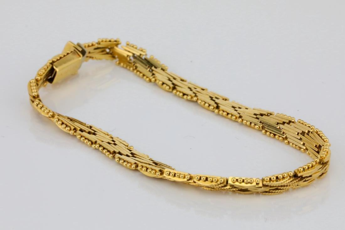 "Imperial Gold U.S.A. 14K Yellow Gold 7"" Bracelet - 2"