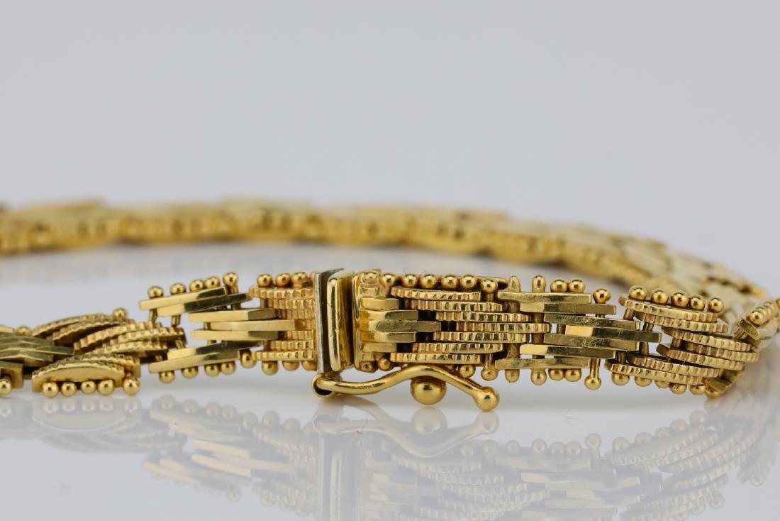 "Imperial Gold U.S.A. 14K Yellow Gold 7"" Bracelet - 3"
