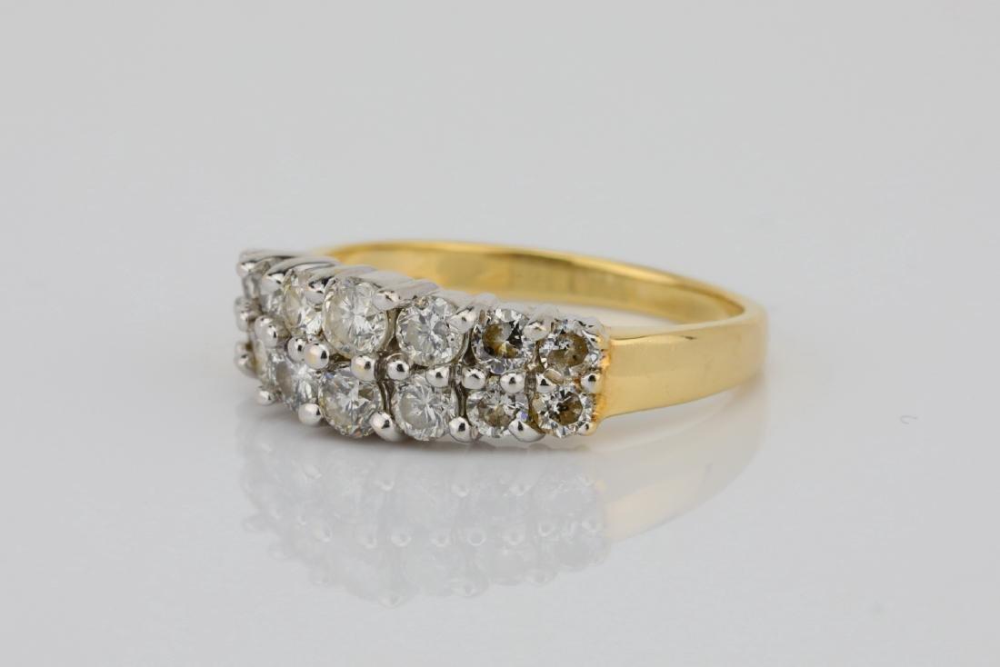 1.25ctw SI1-SI2/G-H Diamond 14K Yellow Gold Ring - 2