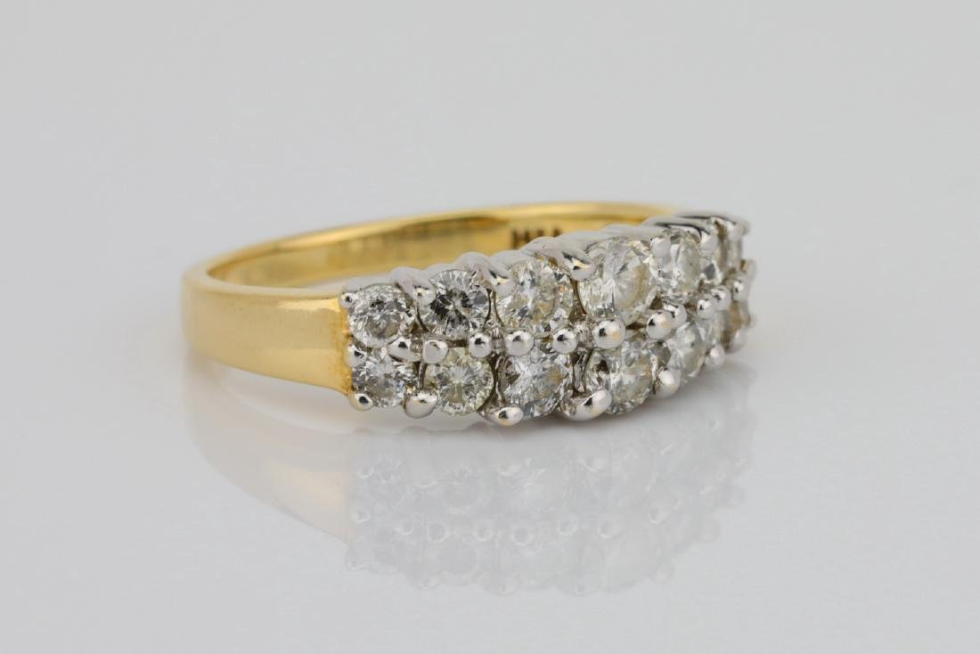 1.25ctw SI1-SI2/G-H Diamond 14K Yellow Gold Ring - 3