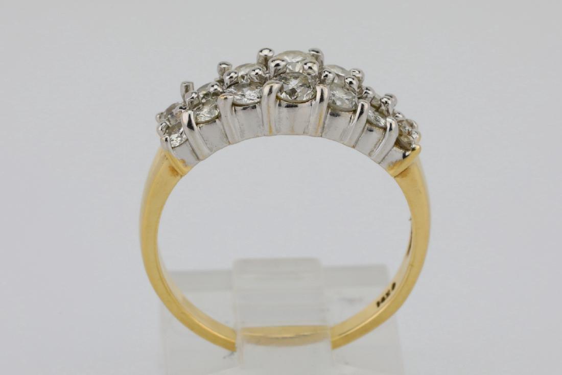 1.25ctw SI1-SI2/G-H Diamond 14K Yellow Gold Ring - 4